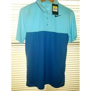 Nike Golf Men's blue shirt Dri-Fit